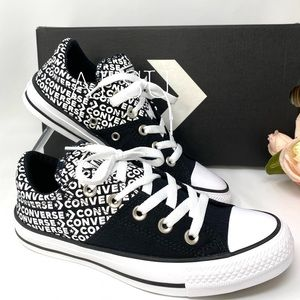 Converse Ctas Madison Low Canvas Black White LogoW